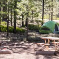 Camping at Sunset Campground.- Sunset Campground