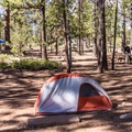 Tent camping at Bryce National Park.- Sunset Campground