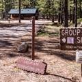 Group camping at Sunset Campground.- Sunset Campground