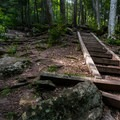 Stairs to the top of the falls.- Van Campens Glen Hike