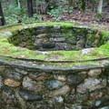 An old springhouse foundation near the trailhead.- Mount Starr King + Mount Waumbek