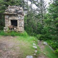 The remains of an old cabin on Mount Starr King.- Mount Starr King + Mount Waumbek
