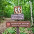 The start of the Starr King Trail.- Mount Starr King + Mount Waumbek