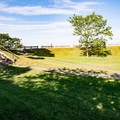 The common grounds at Fort Sewall.- Fort Sewall