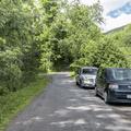 Parking along County Road 3.- Bearpen Mountain