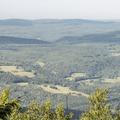 Looking north to Prattsville.- Bearpen Mountain