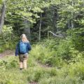 Returning back down the same path.- Bearpen Mountain