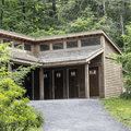 Restrooms and changing area nearby.- Lake Minnewaska
