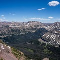 Looking toward the heart of the High Uintas from A-1 Peak.- Kletting + A-1 Peak