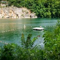 Mead's Quarry not only offers a spot for flatwater fun but also an area for swimming.- Mead's Quarry at Ijams
