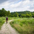 The trails at Mead's Quarry and in Knoxville's Urban Wilderness are open to walkers, runners, bikes, and dogs.- Mead's Quarry at Ijams