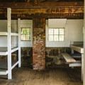A peek inside the Jim Liberty Cabin.- Mount Chocorua via Liberty Trail
