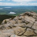 Several lakes can be seen from the top.- Mount Chocorua via Liberty Trail