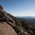 Views of the cinder hills to the east.- Mount Elden Slabs