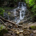 Margarette Falls is a beautiful 60-foot fan-shaped waterfall.- Margarette Falls