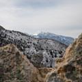 A view of Lone Peak.- Mount Olympus Snowshoe