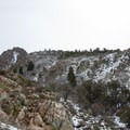 The south summit from Tolcat Canyon.- Mount Olympus Snowshoe