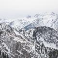 Dromedary Peak, Sunrise Peak, and Broads Fork Twin Peaks.- Mount Olympus Snowshoe