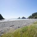 Cape Cove Beach just south of Heceta Head.- Cape Cove Beach