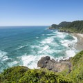 View north from the Heceta Head State Scenic Viewpoint.- Heceta Head Lighthouse State Scenic Viewpoint