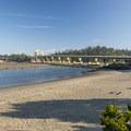 View of the 1991-built Alsea Bay Bridge.- Alsea Bay Clamming