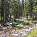 Picturesque streams guide you down the valley.- Devils Thumb + Kings Lake Loop