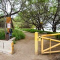 The entrance to the beach park is directly off Farrington Highway.- Makua Beach