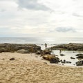 Makua Beach has small tide pools.- Makua Beach