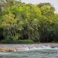 Clarissa Falls along the Mopan River.- Mopan River: Clarissa Falls