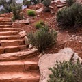 Stone steps along the loop.- Watchman Trail