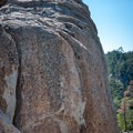 The southwest face of Castle Rock near Big Bear Lake, California.- Castle Rock Crag via Lower Trailhead