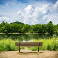 The park includes benches along your way. Take a break and enjoy the view!- Seven Islands State Birding Park