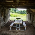 Picnic tables are located inside of the barns. Always practice Leave No Trace!- Seven Islands State Birding Park