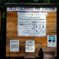Pay station at the entrance.- Spring Gulch Campground