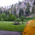 Open campsites are tent-only (site 10 is seen here).- Spring Gulch Campground