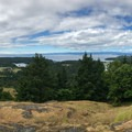 Panorama view from the top of Young Hill.- San Juan Island: Young Hill