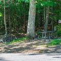Picnic tables offer a great lunch spot at the trailhead.- Arethusa Falls