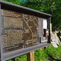 The kiosk at the trailhead provides a description and map.- Arethusa Falls