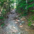 An easy section of the Arethusa Falls Trail.- Arethusa Falls