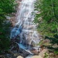 This waterfall is estimated to be between 140 and 200 feet high.- Arethusa Falls