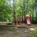There are two playgrounds on the grounds.- Worthington State Forest Campground