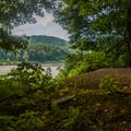 Views of the Delaware River. - Worthington State Forest Campground