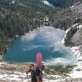Ascending above Emerald Lake.- Dead Elk Couloir