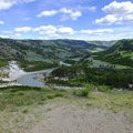View of the Yellowstone River from the trail.- Agate Creek