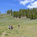 Climbing up to the ridge 2 miles in.- Agate Creek