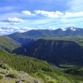 Great views of the Yellowstone River canyon and Mount Washburn.- Agate Creek