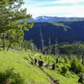 Descent into the canyon.- Agate Creek