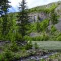 Agate Creek meets the Yellowstone.- Agate Creek