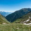 Nearing the Col de Balme and looking to the trail behind.- Tour Du Mont Blanc: Stages 9, 10 + 11
