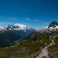 Panoramic view from the summit of Aiguille des Posettes.- Tour Du Mont Blanc: Stages 9, 10 + 11